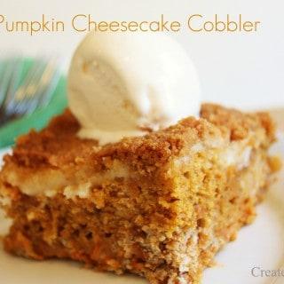 Pumpkin Cheesecake Cobbler