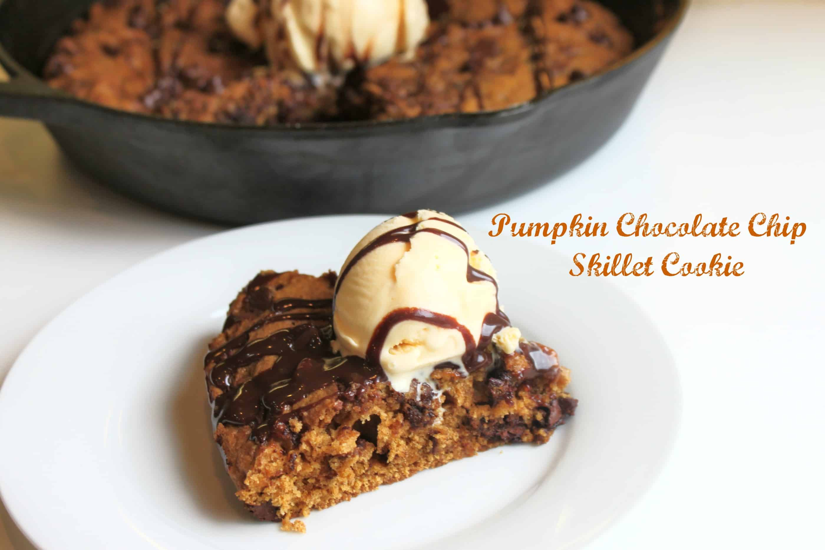 Pumpkin one pan skillet cookie how-to pizookie-skookie | Created by ...