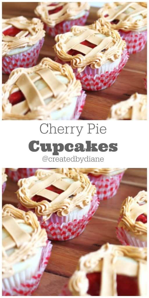 Cherry Pie Cupcakes @createdbydiane