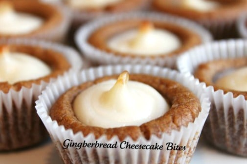 Gingerbread-Cheesecake-Bites-delicious easy recipe @createdbydiane
