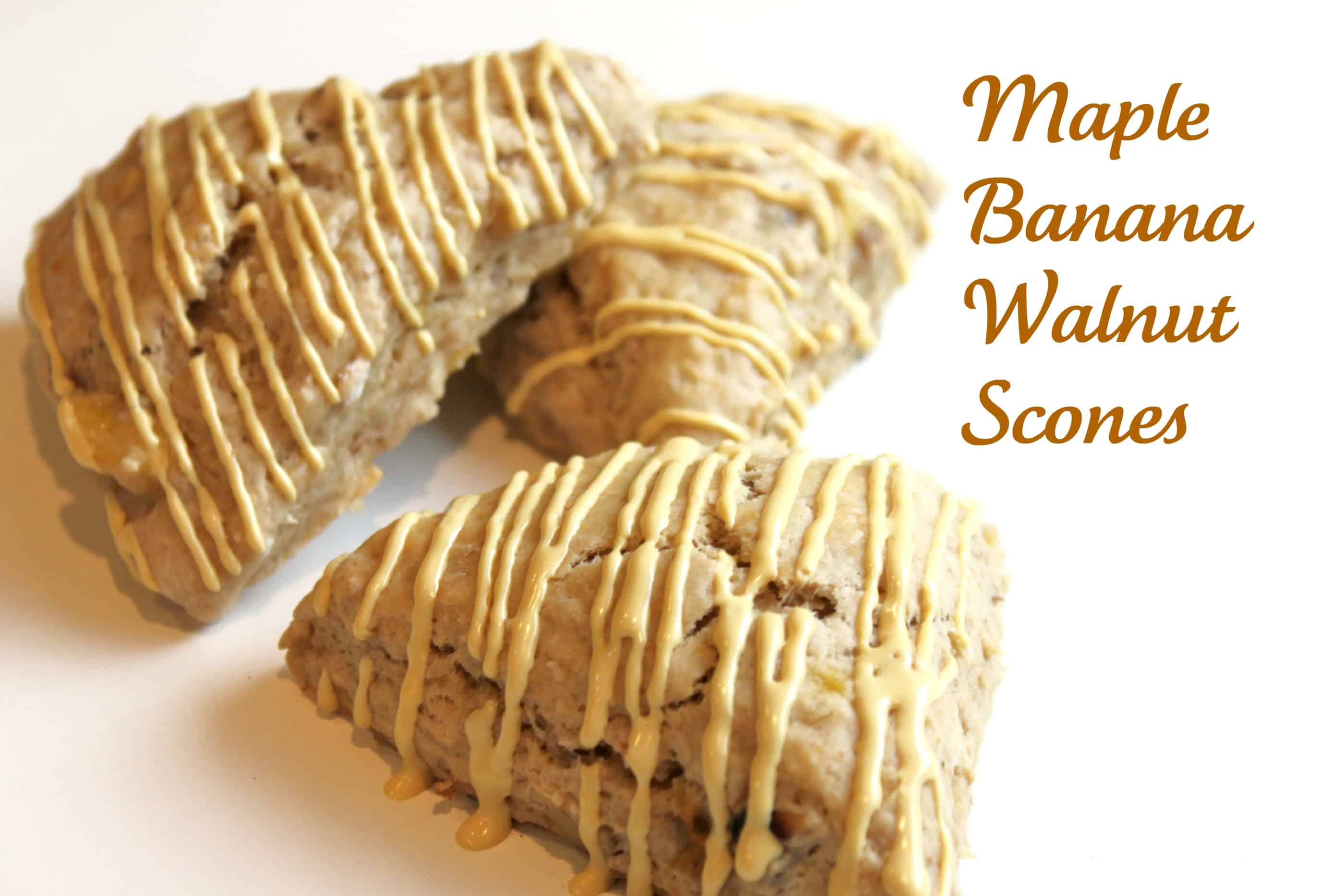 Maple Banana Walnut Scones | Created by Diane