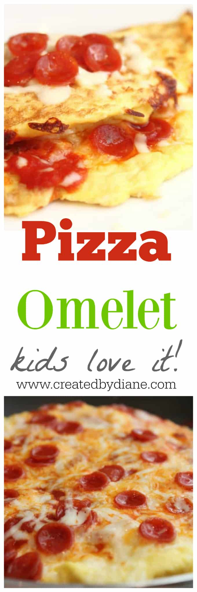 Pizza Omelet recipe great for low carb eating, #LCHF #keto #lowcarb kids love this and it's fast and easy to make perfect every time www.createdbydiane.com