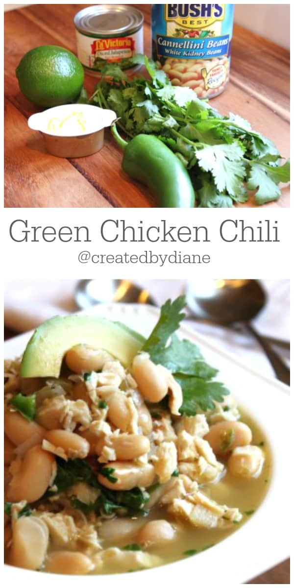 Green Chicken Chili Recipe from @createdbydiane