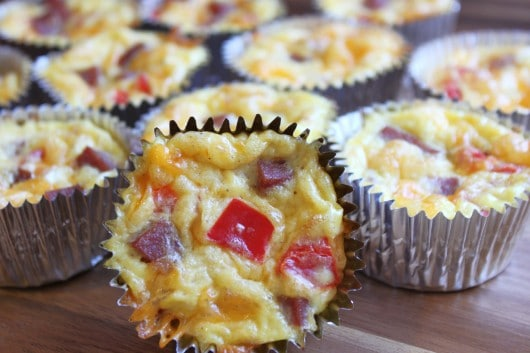Ham, Egg and Cheese Breakfast Cupcakes | Created by Diane