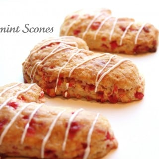 Peppermint Scones with Andes Peppermint Crunch Baking Chips
