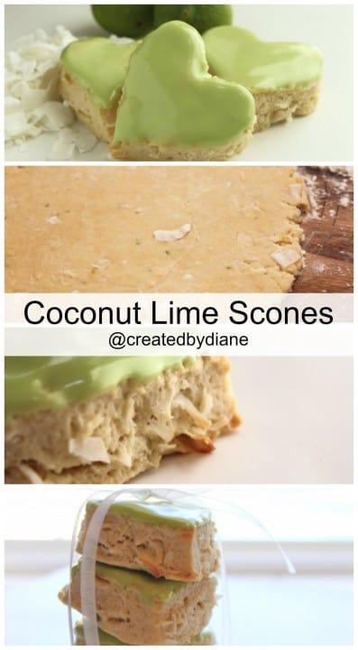 Coconut Lime Scones @createdbydiane
