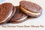 Easy Chocolate Peanut Butter Whoopie Pies using a cake mix