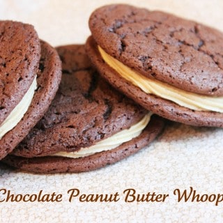 Easy Chocolate Peanut Butter Whoopie Pies