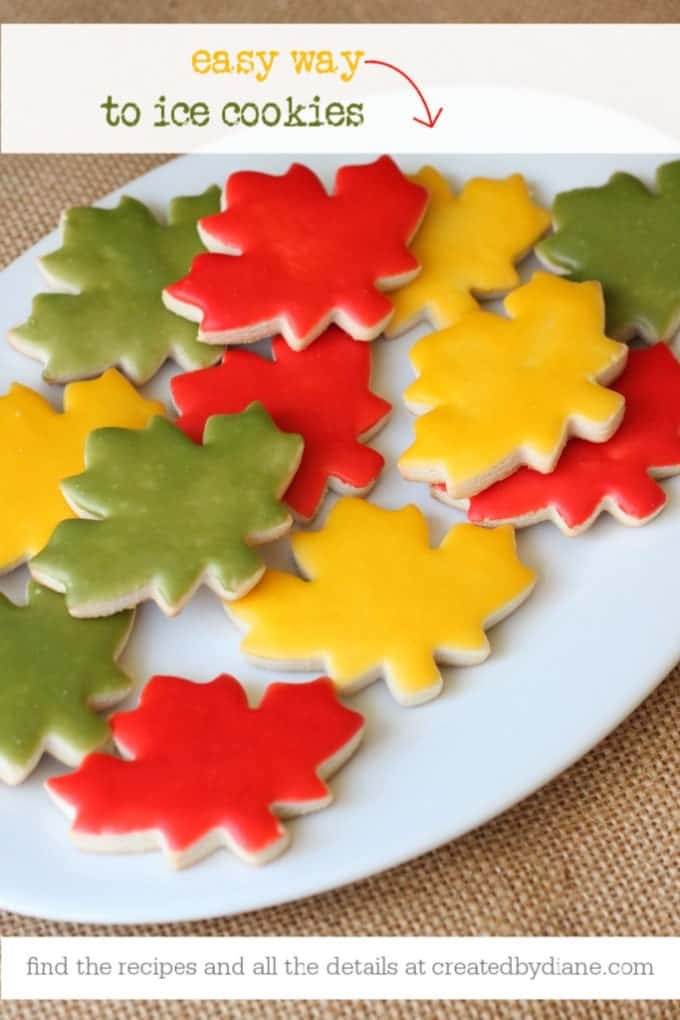 easy way to ice cookies recipes and complete details at createdbydiane.com