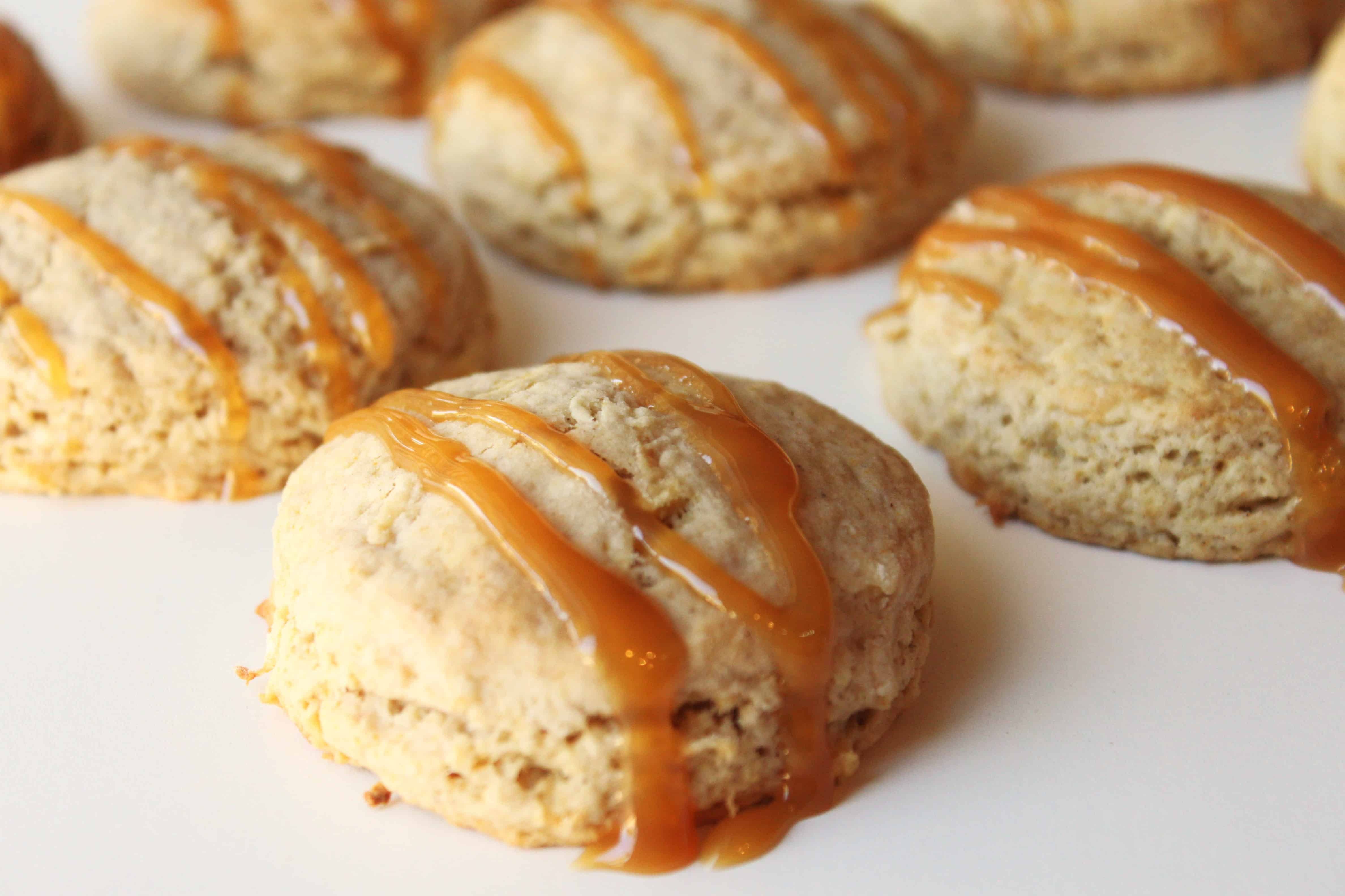 grated apple recipe for caramel apple scones | Created by Diane