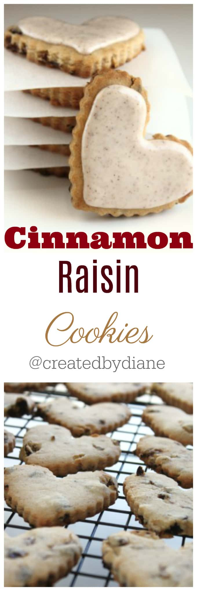 Cinnamon Raisin Cut Out Cookies @createdbydiane