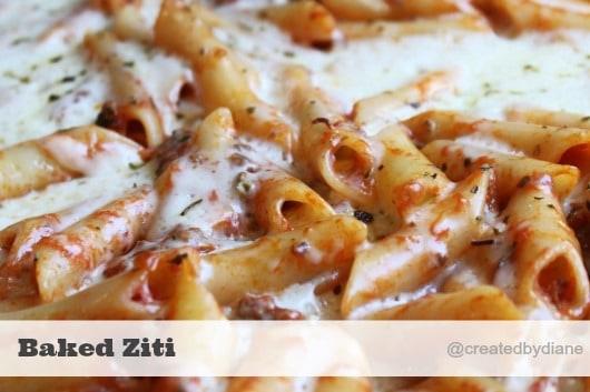 Italian-Baked-Ziti Recipe @createdbydiane