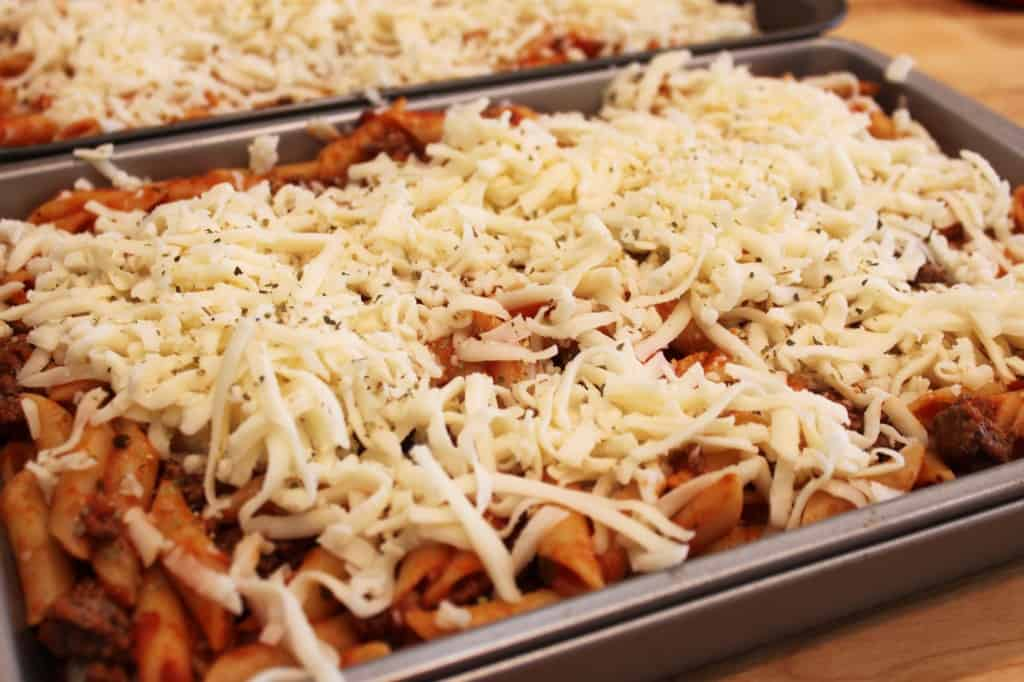baked ziti pasta-ground beef-sauce-cheese @createdbydiane