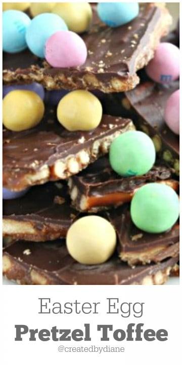 Easter Egg Pretzel Toffee @createdbydiane