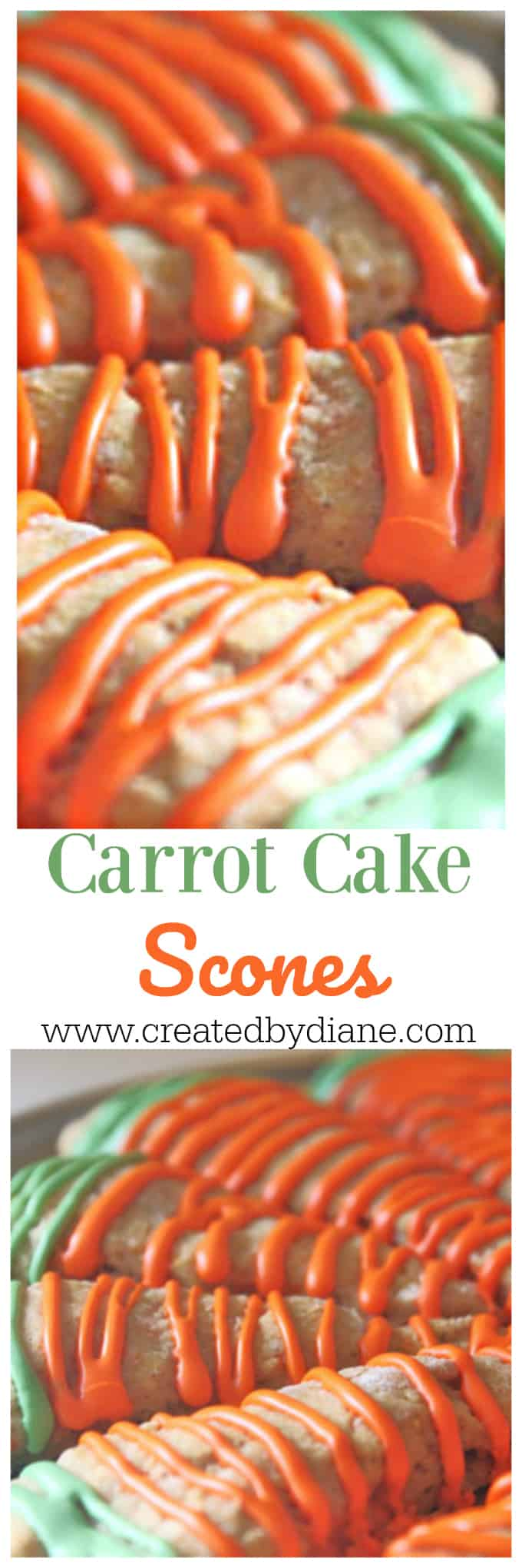 carrot cake scones www.createdbydiane.com