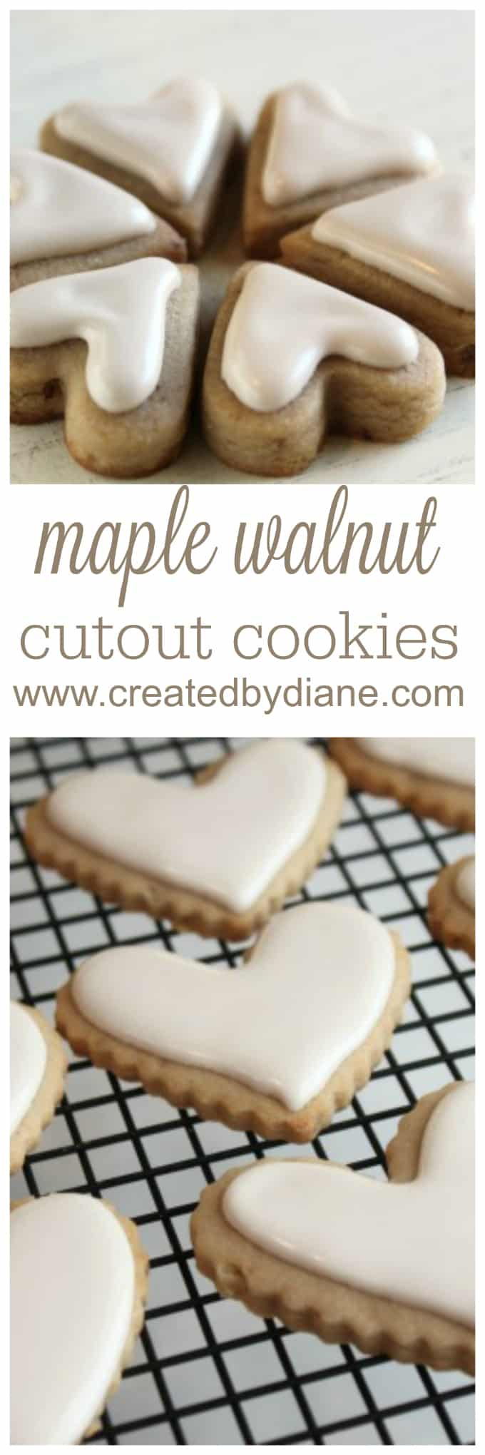 maple walnut cut out cookies www.createdbydiane.com