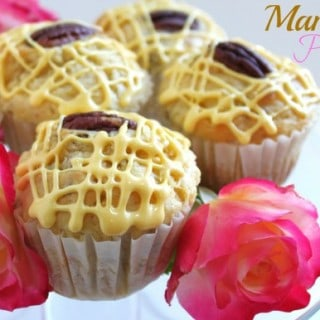 Mango Pecan Muffins with Mango Icing
