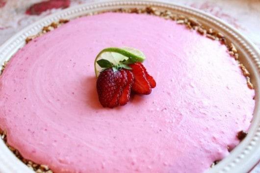 Frozen Strawberry Margarita Pie | Created by Diane