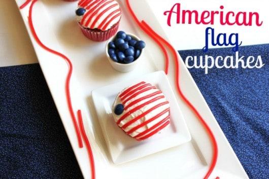 Patriotic American Flag Cupcake