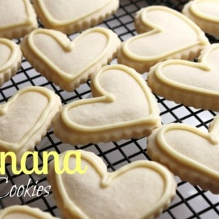 Banana Cut Out Cookies with Banana Icing
