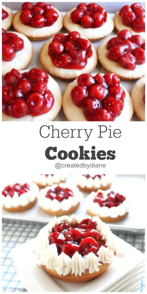 Cherry Pie Cookies @createdbydiane