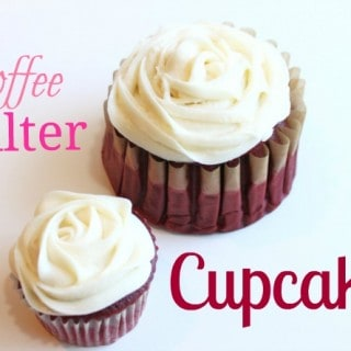 Coffee Filter Cupcakes @createdbydiane