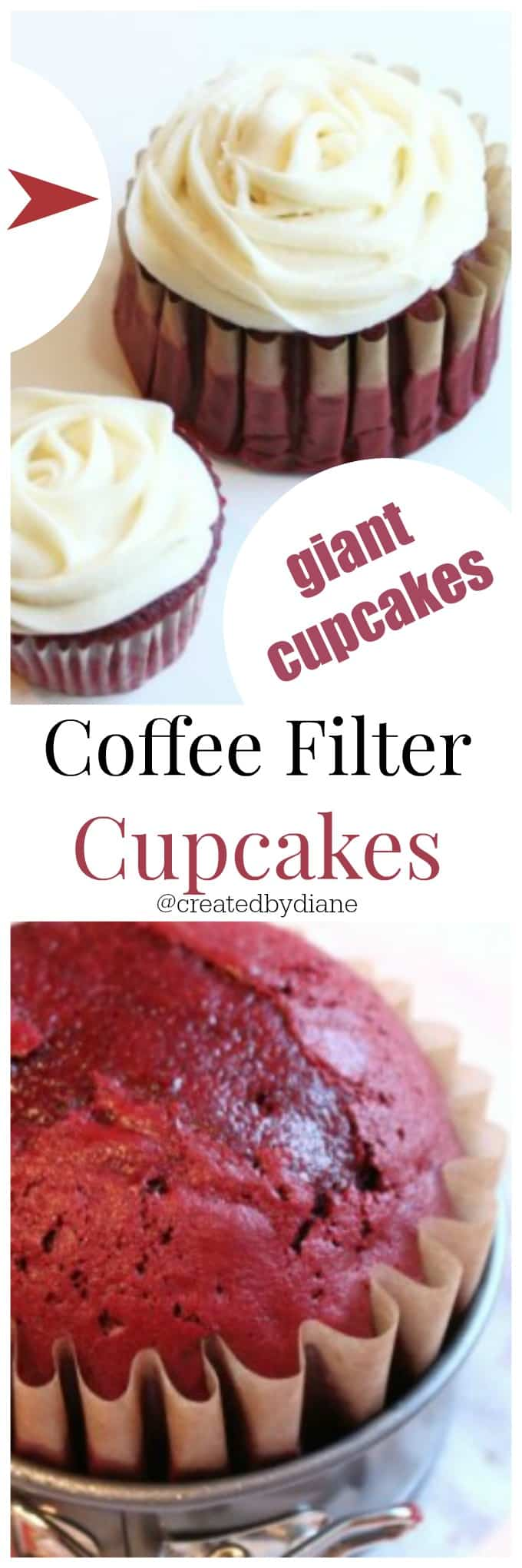 Coffee Filter Cupcakes are GIANT Cupcakes @createdbydiane