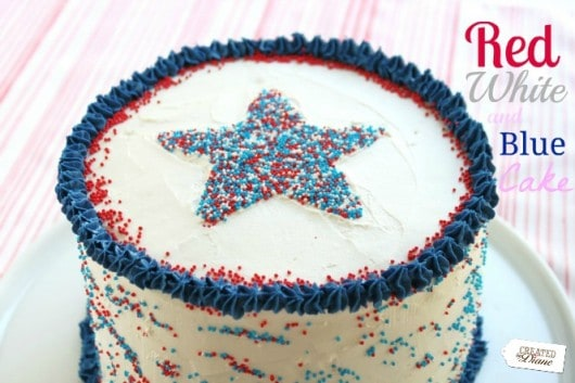 Excellent Red White And Blue Cake Created By Diane Funny Birthday Cards Online Alyptdamsfinfo