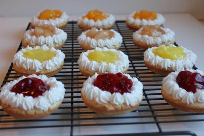 fruit pie cookies. peach, apple, lemon, cherry pies www.createdbydiane.com