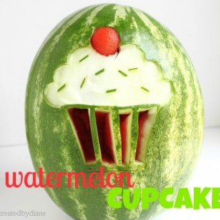 Watermelon Cupcake Carving