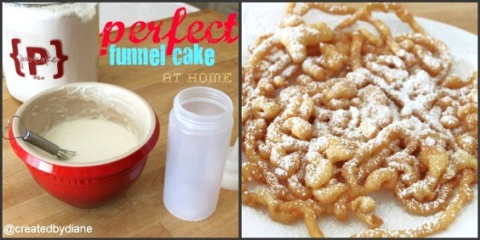 How to make a funnel cake with pancake mix