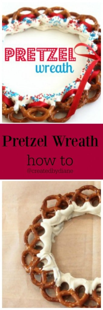 pretzel wreath @createdbydiane