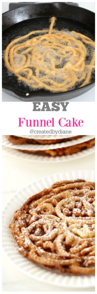 EASY Funnel Cake @createdbydiane