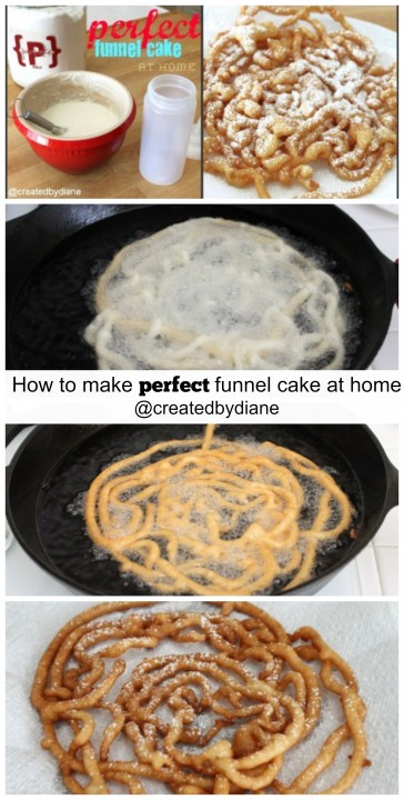 How to make perfect funnel cake at home @createdbydiane #easy #recipe