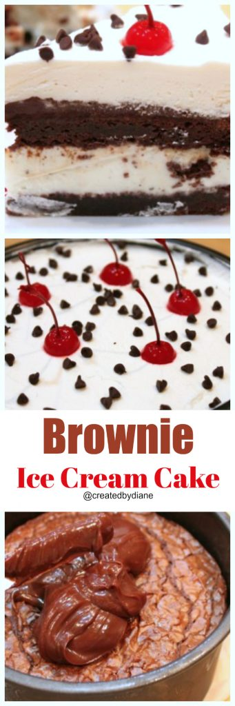 brownie ice cream cake @createdbydiane