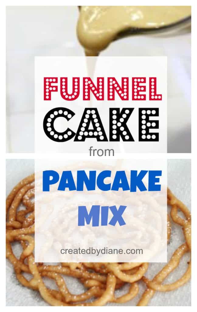 funnel cake with pancake mix createdbydiane.com