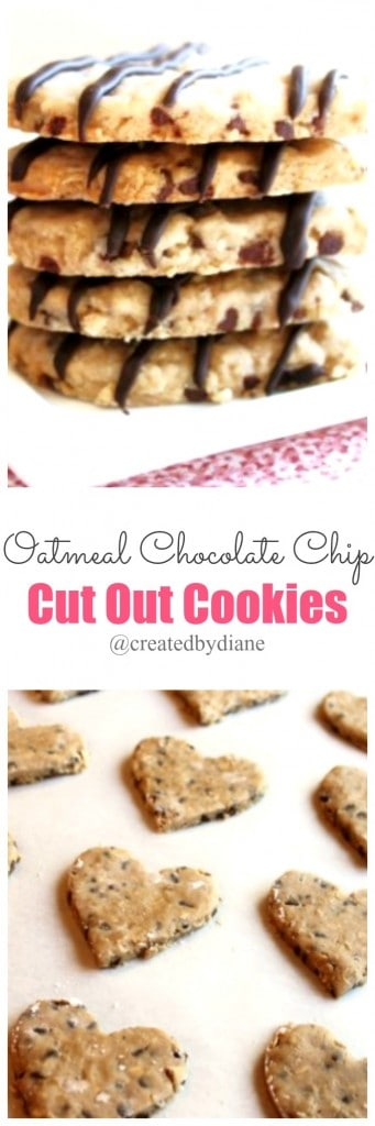 oatmeal chocolate chip cut out cookies @createdbydiane