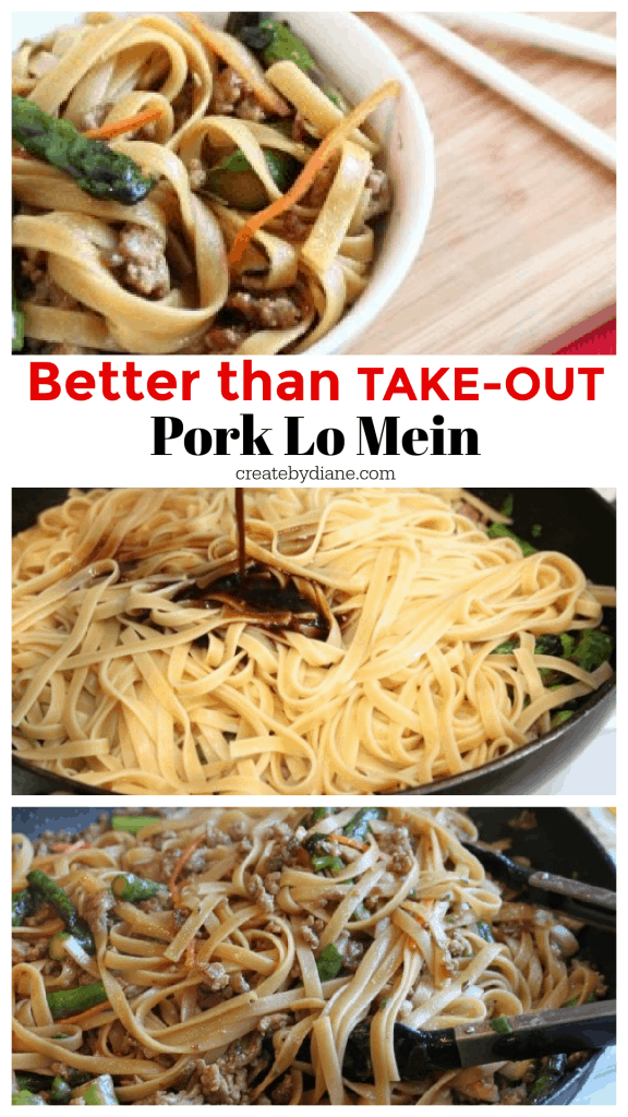 Better than Take Out Pork Lo Mein CHOW MEIN createdbydiane.com