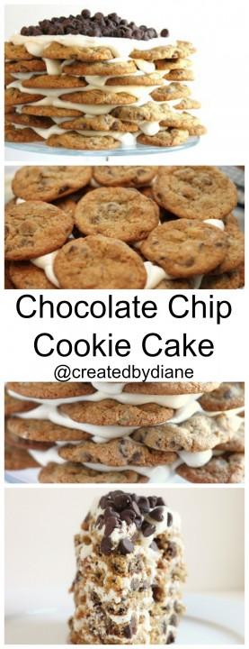 Chocolate Chip Cookie Cake @createdbydiane #cookie