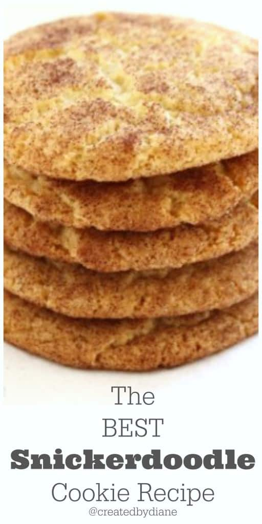 The BEST Snickerdoodle cookie recipe from @createdbydiane