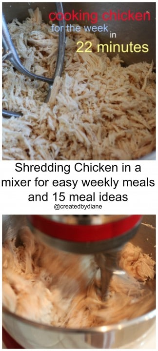 shredding chicken