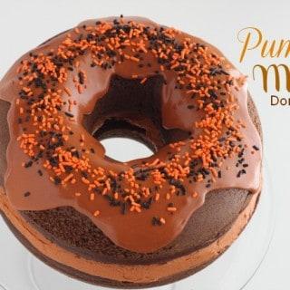 Pumpkin Mocha Donut Cake