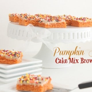 Pumpkin Spice-Cake Mix Brownies