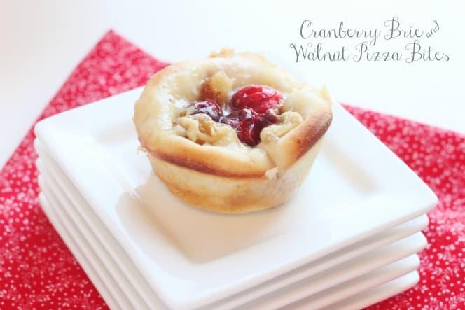 Cranberry Brie and Walnut Pizza Bites | Created by Diane