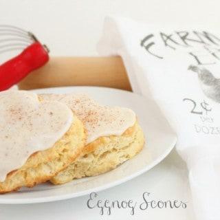 Eggnog Scones