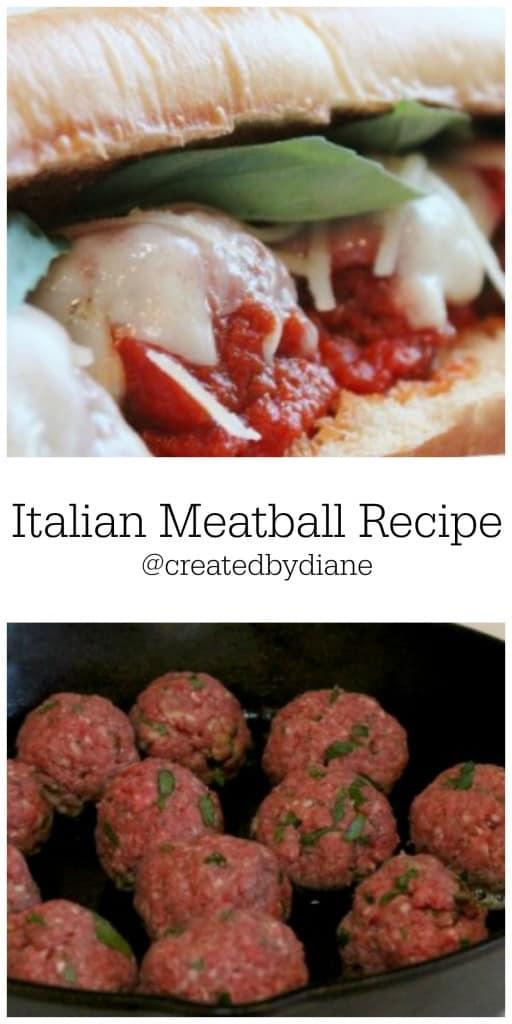 Italian Meatball Recipe @createdbydiane
