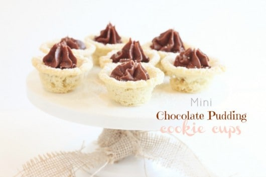 Mini Chocolate Pudding Cookie Cups @createdbydiane