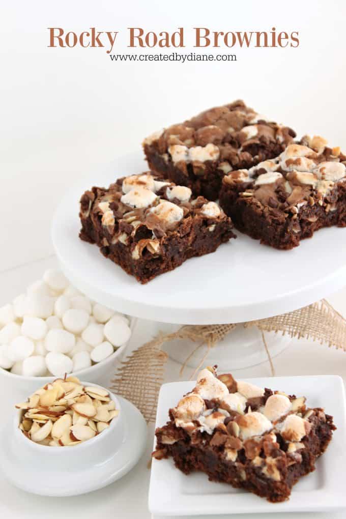 Rocky Road Brownies www.createdbydiane.com