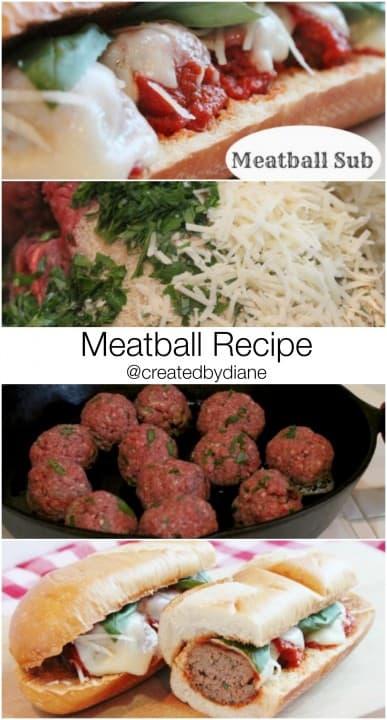 meatball recipe @createdbydiane