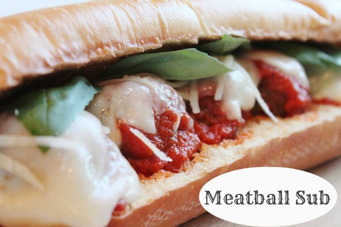 meatball sub recipe {how to make a meatball sandwich} | Created by Diane